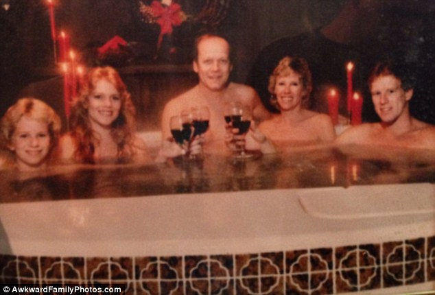 Photo album young nude family