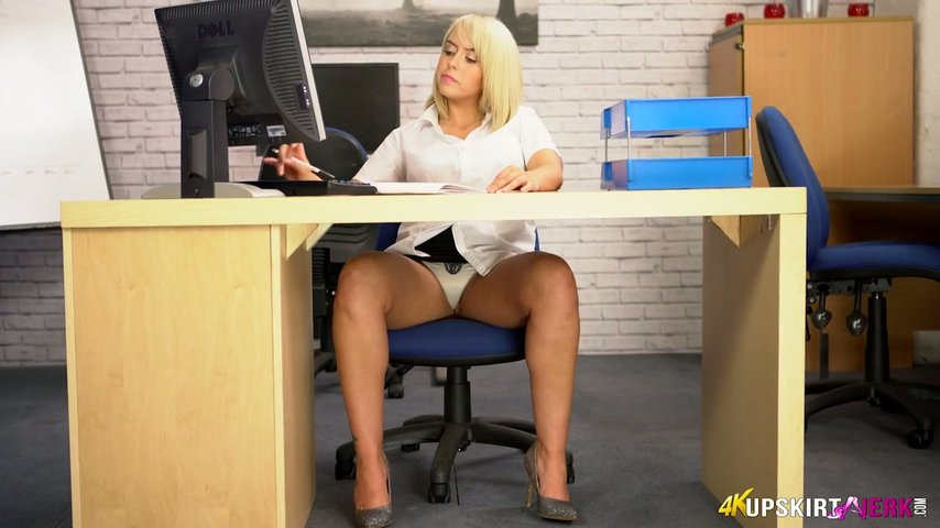 Office secretary upskirt sex
