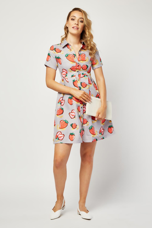 Junior girl models strawberry