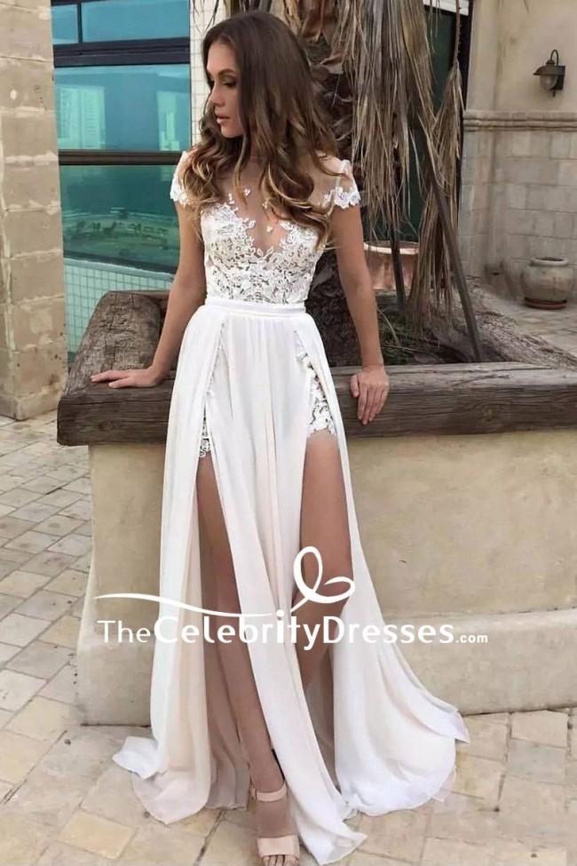 Sexy white prom dresses