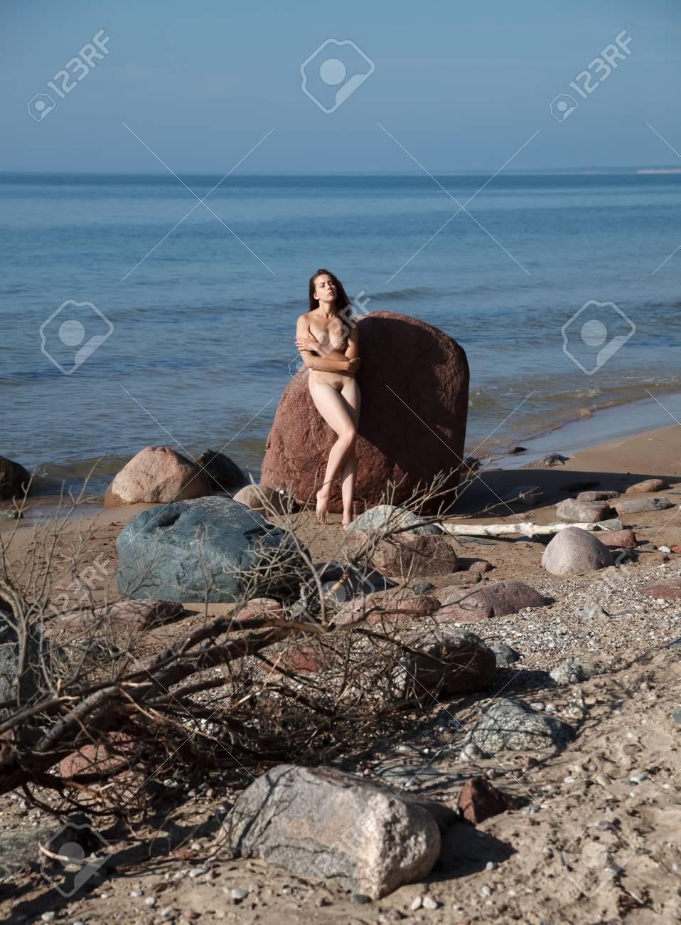 Naked girls on nude beach
