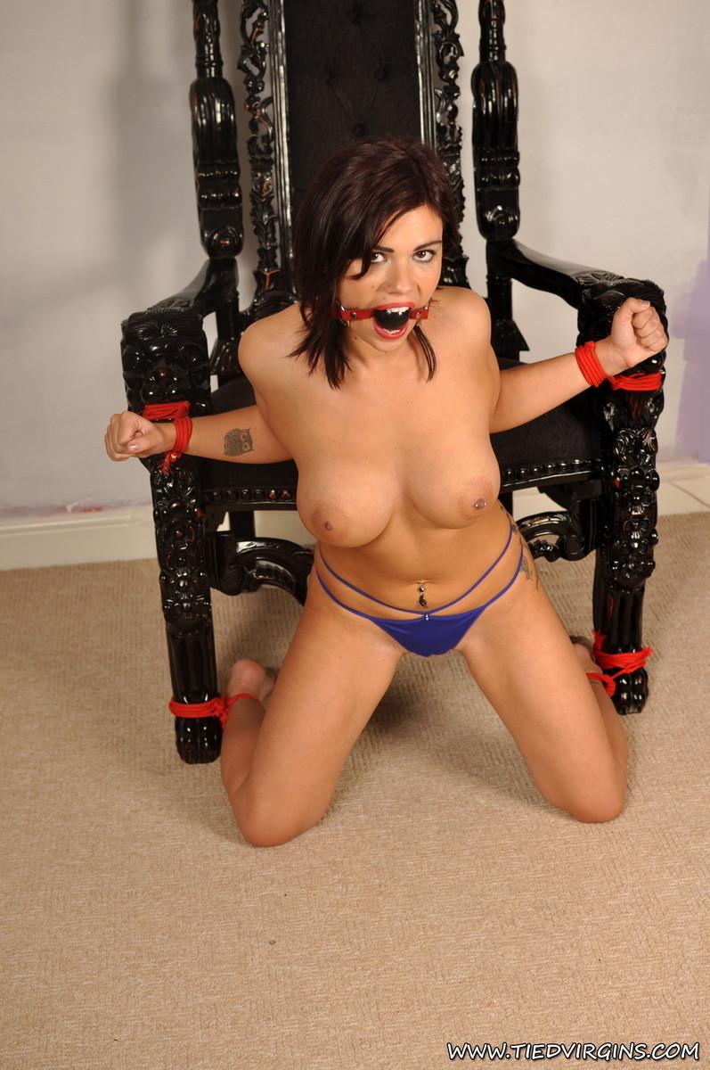 Naked girl asian gagged big boobs