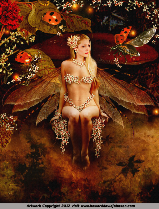 Sexy naked fairy fantasy art