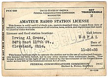 Latest amateur radio license grants