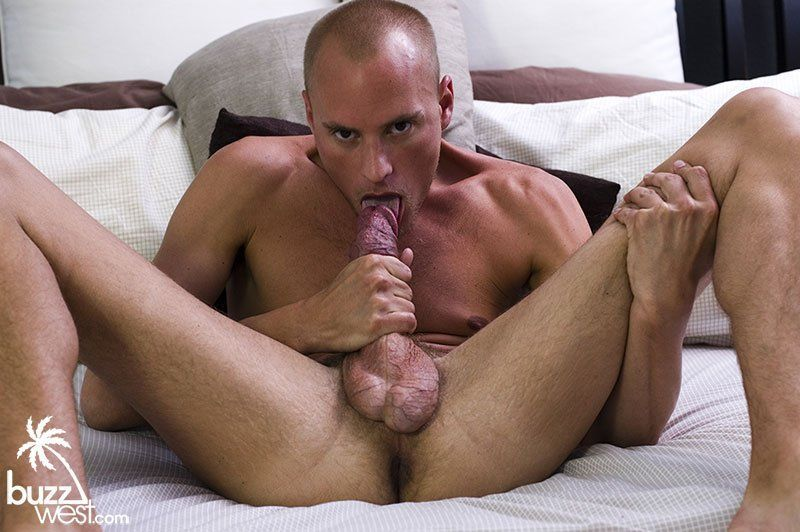Man licking a man dick