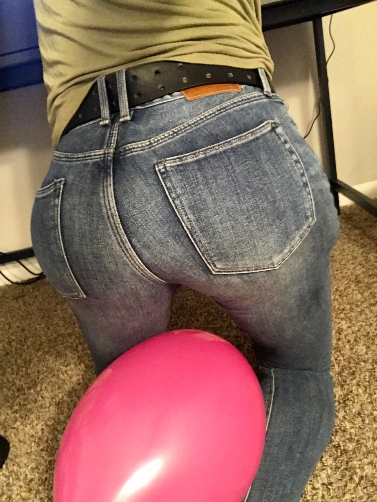 Poping balls out of ass
