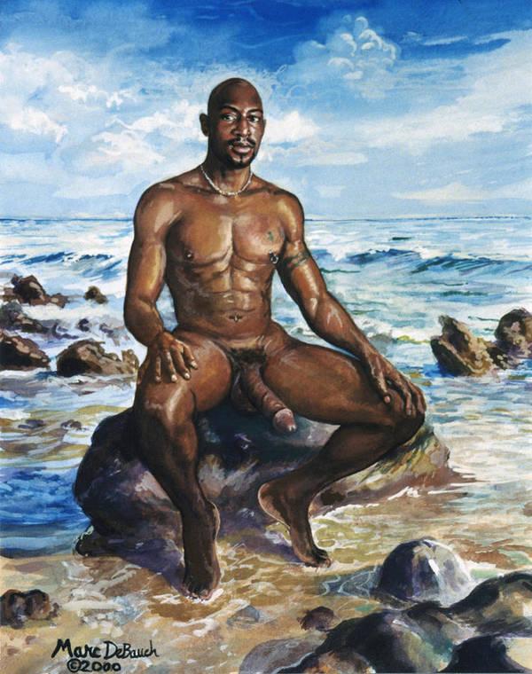 Nude beach for men