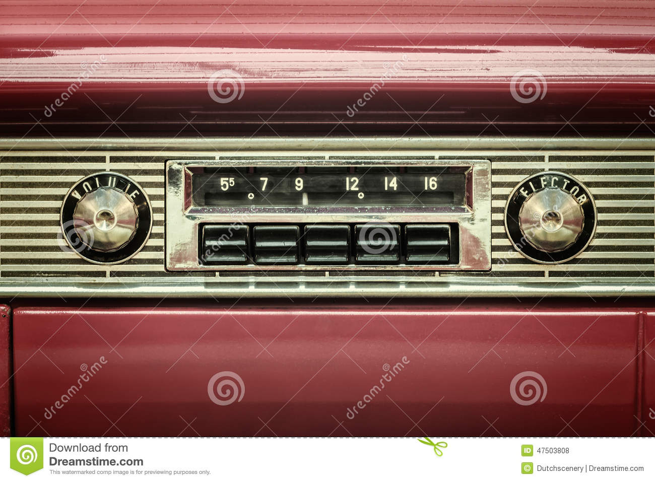 Old vintage automobile radios