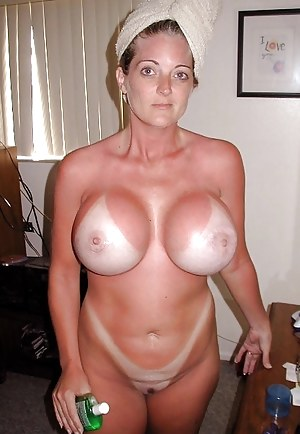 Nude mom tan and son