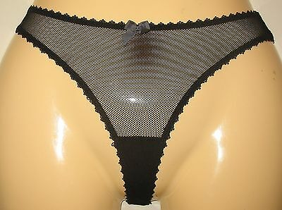 Sheer black thong panties