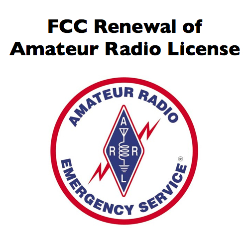 Renewal of amateur radio license