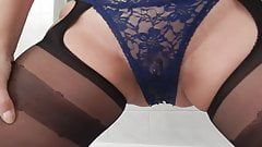 Open crotch thong pussy