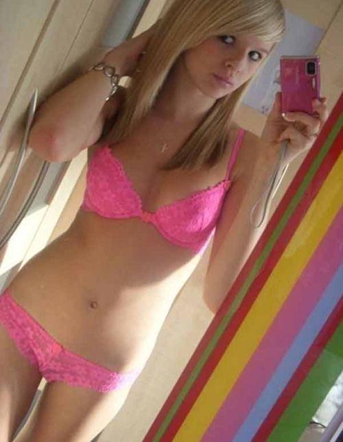 Self shot pink panties