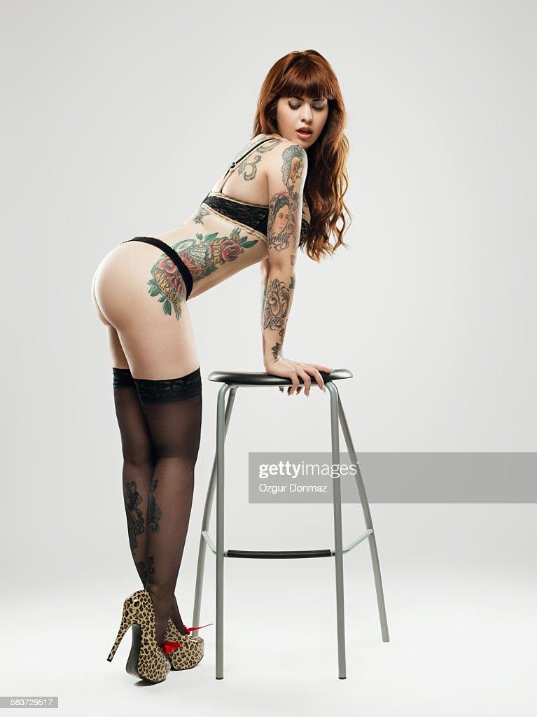 Sexy curvy girls with tattoos