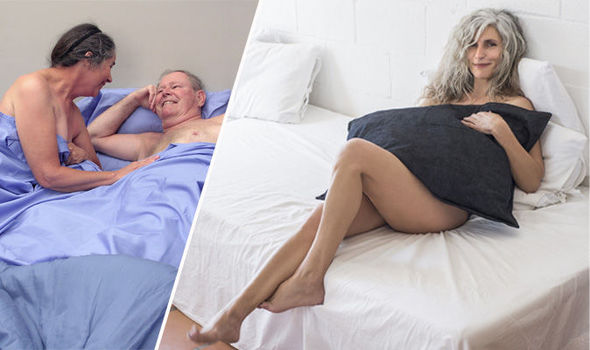 Old seniors having sex