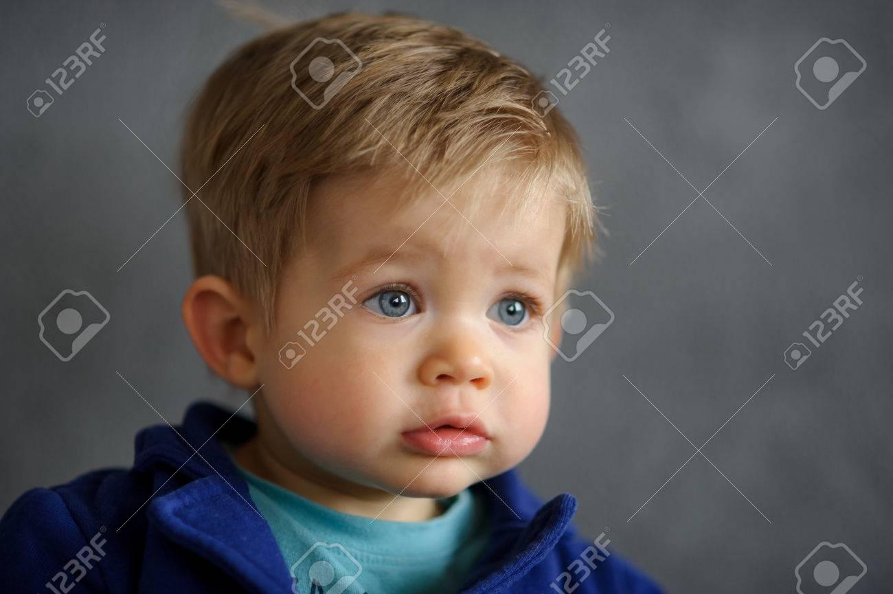 Boy with chubby cheeks