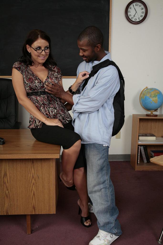 Real teacher student interracial