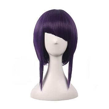 Dark purple cosplay wig