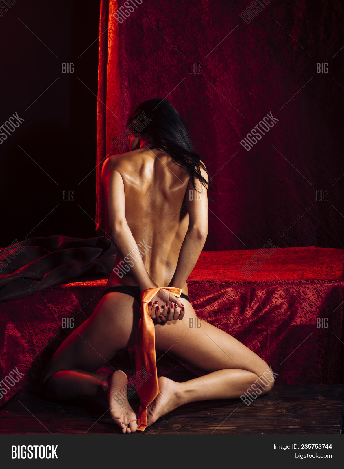 Tied bdsm naked women