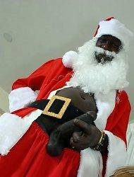 Naked black santa cock