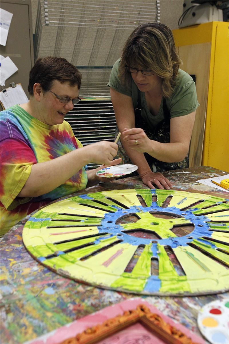 Art therapy adults with developmental disabilities