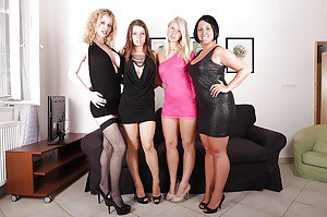 Group of naked teens and matures