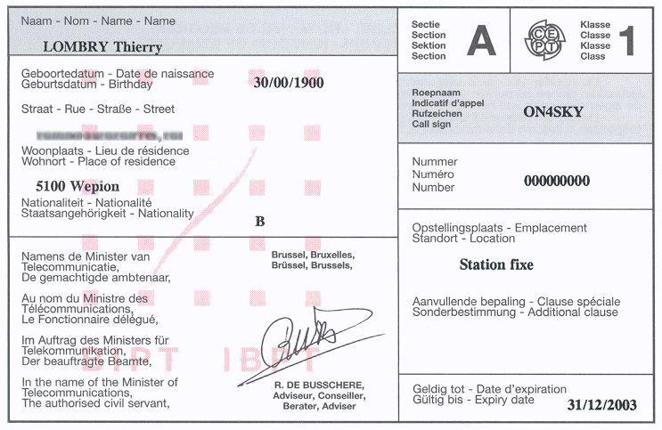 Latest amateur radio license grants