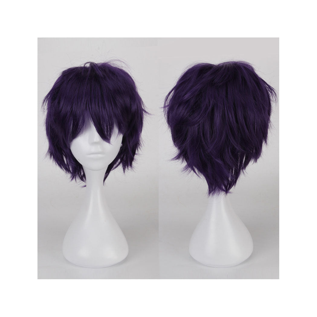 Dark purple cosplay wig