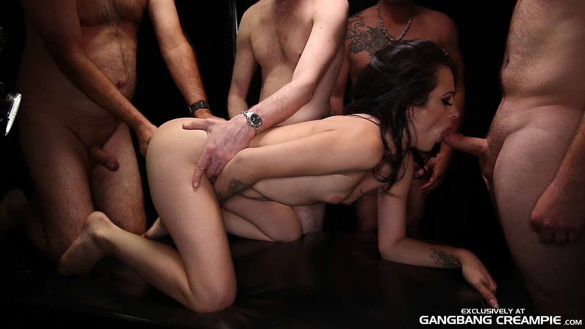 Creampie gangbang black porn