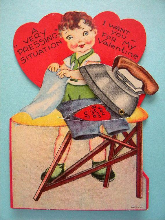 Vintage mechanical valentine cards