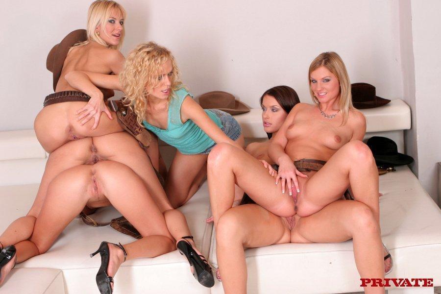 Hardcore lesbian pussy orgy