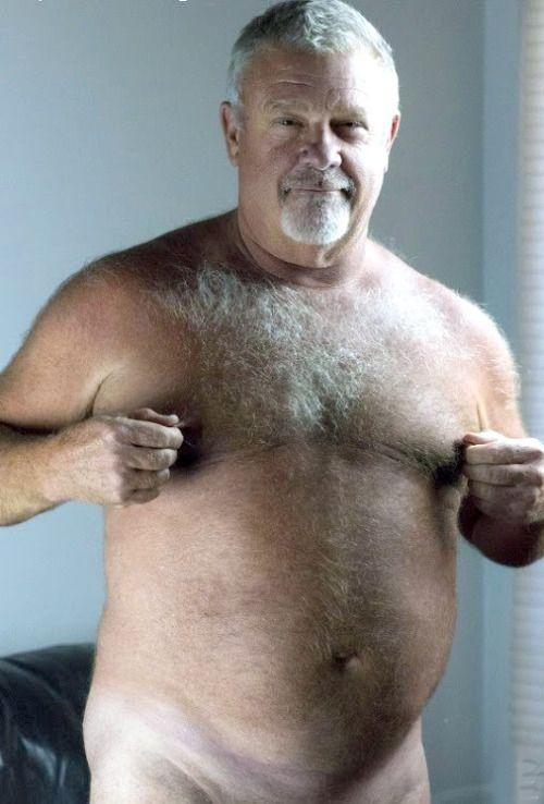 Nude hairy daddy in sexy underwear