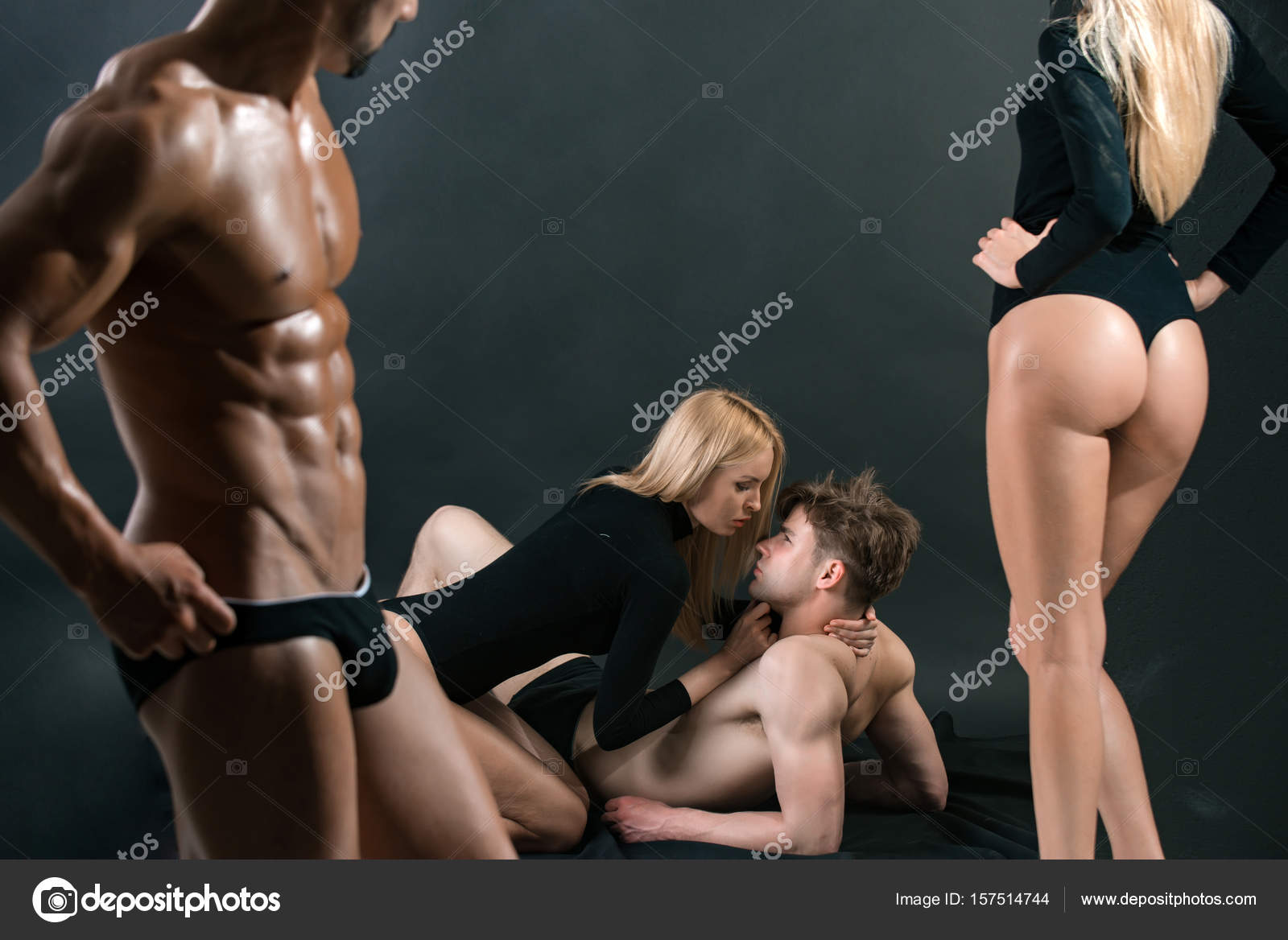 Strong men having sex with girls
