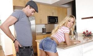 Boy on girl handjob