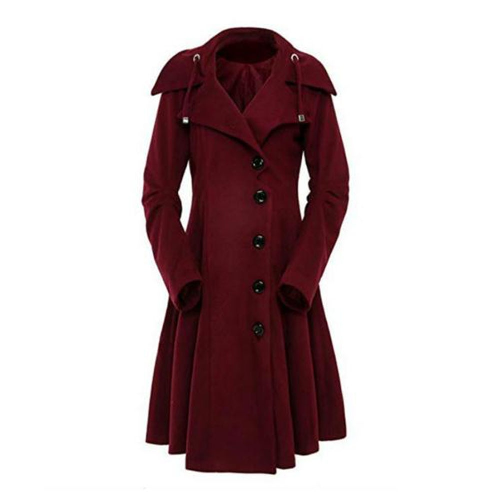 Long vintage womens coat