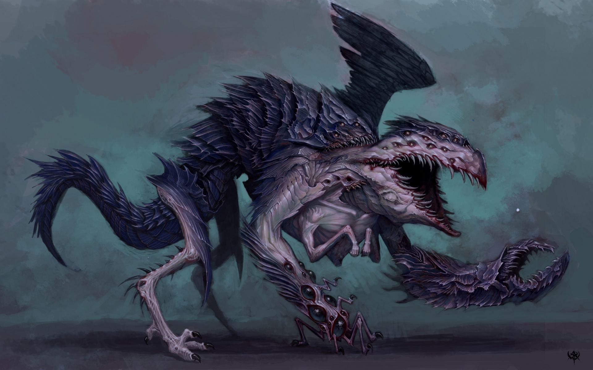 Sci fi monster art