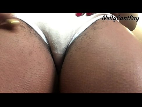 Ass and pussy popping out of panties