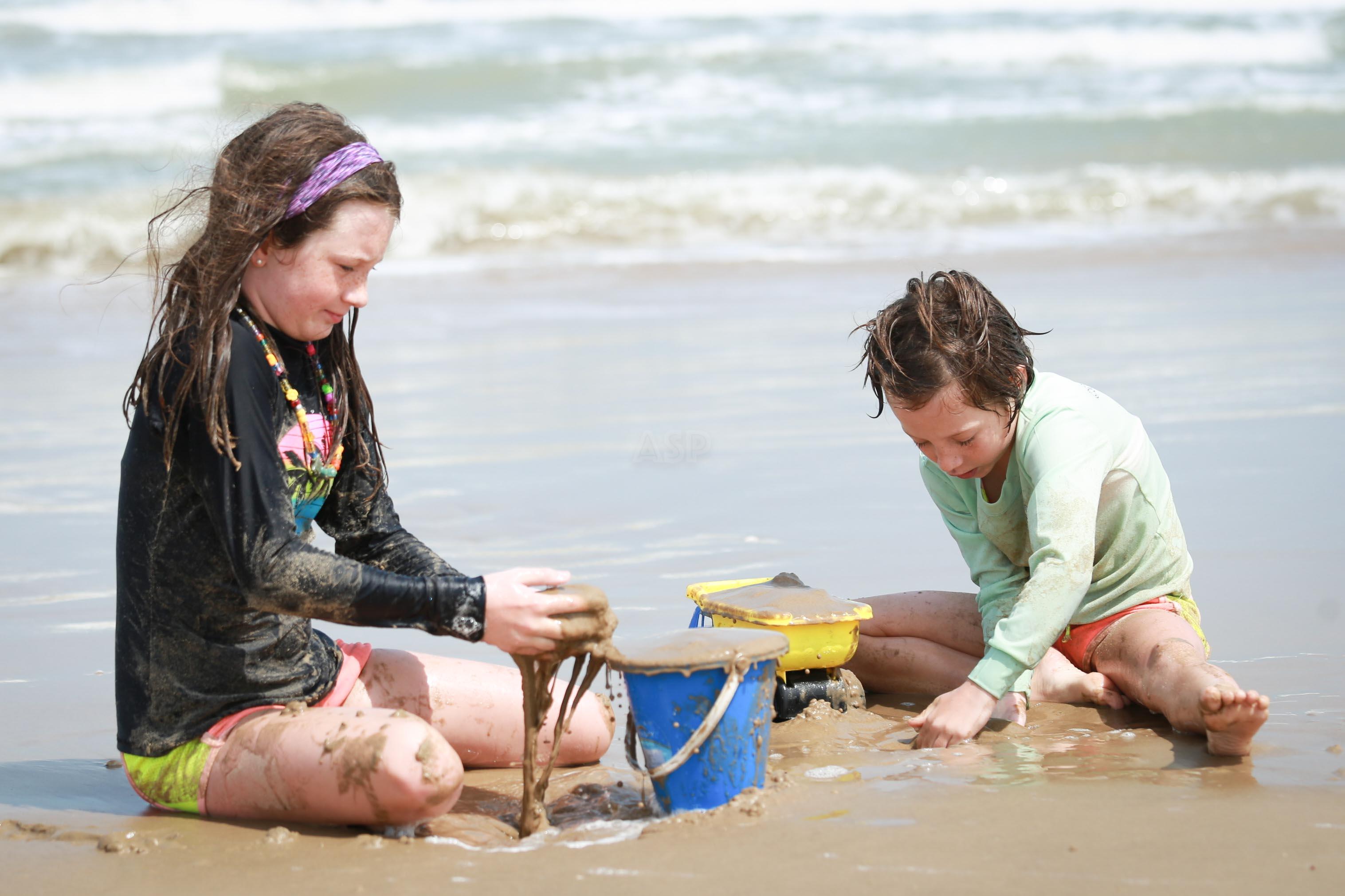 Voyeur family at beach