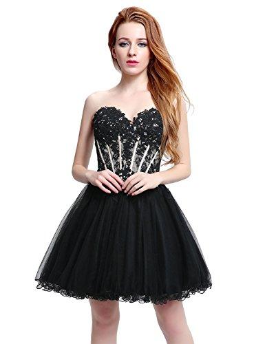 Short black strapless prom dresses
