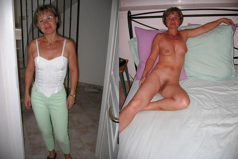 Mature wife before and after