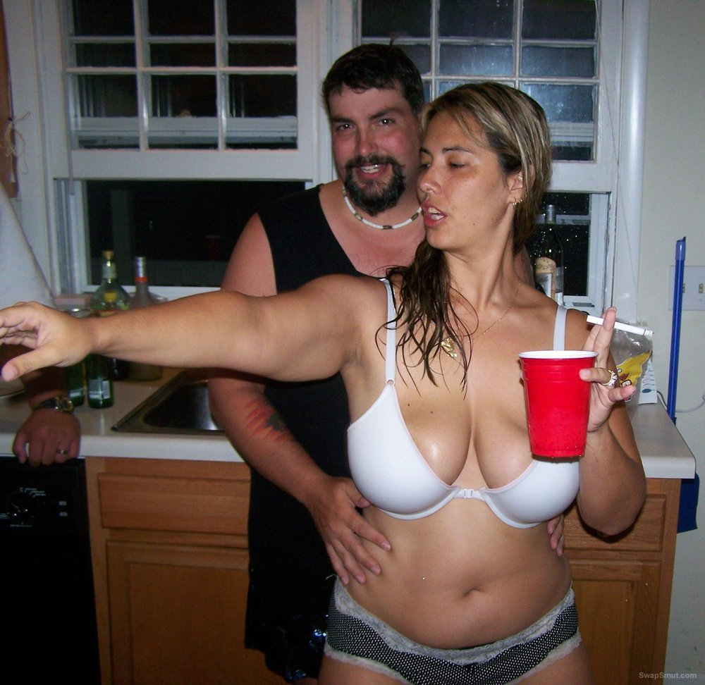 Showing tits at party
