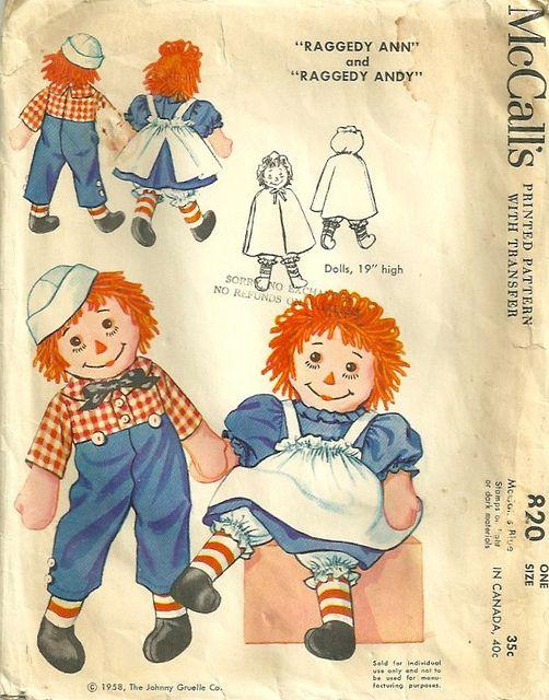 Vintage raggedy ann pattern