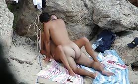 Caught fucking on beach