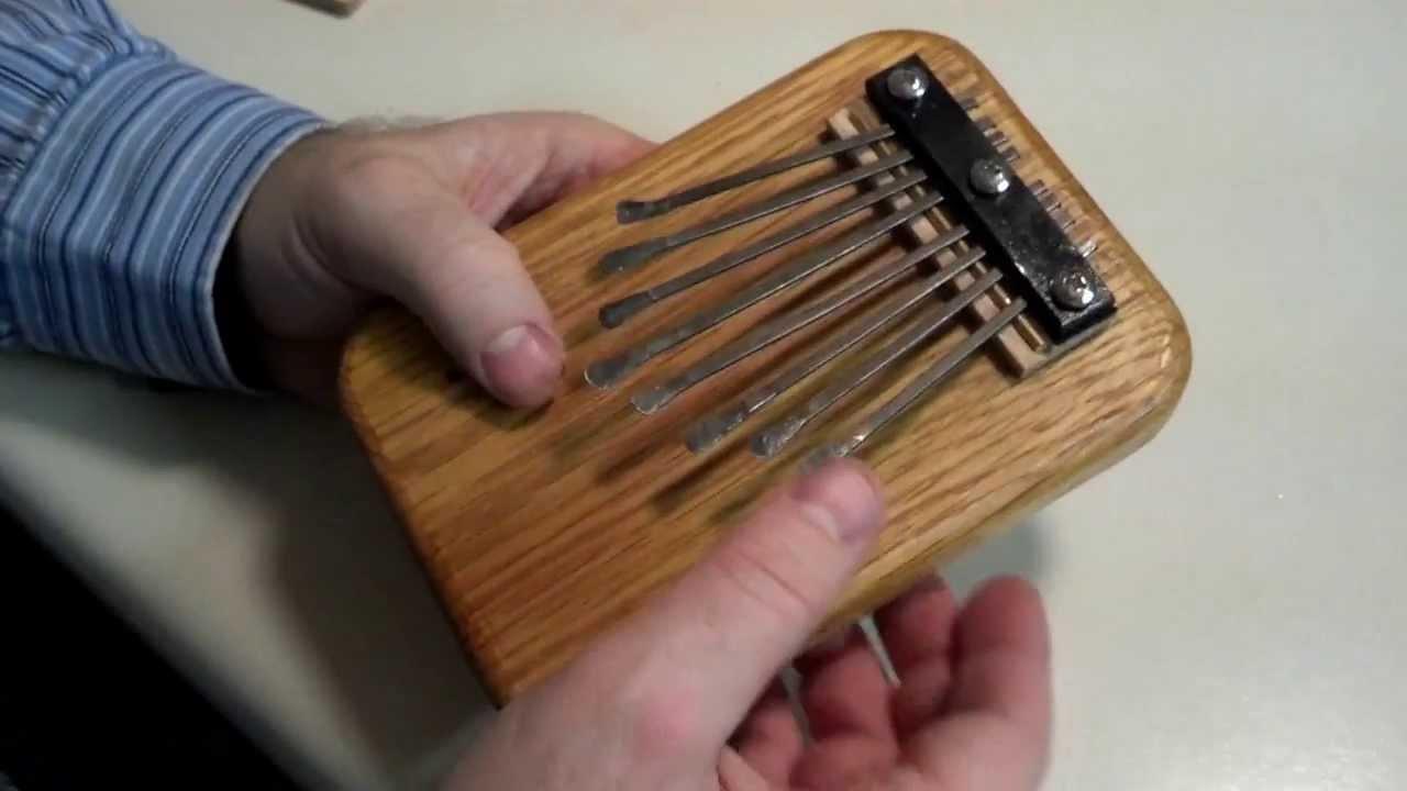 Making a thumb piano