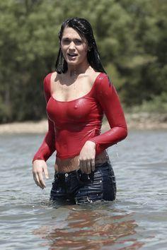 Tight wet shirt girl
