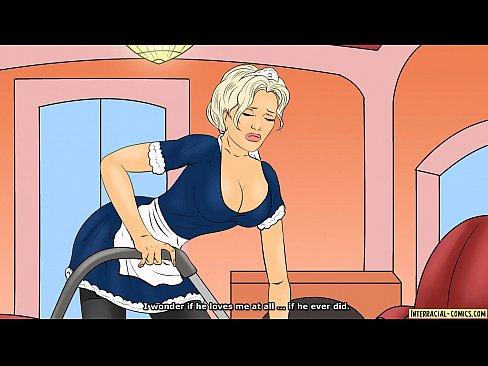 Pregnant white woman bbc captions cartoon