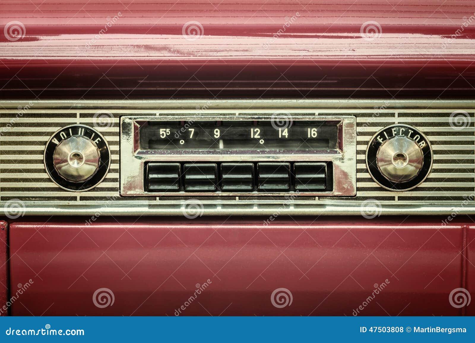 Old vintage automobile radios