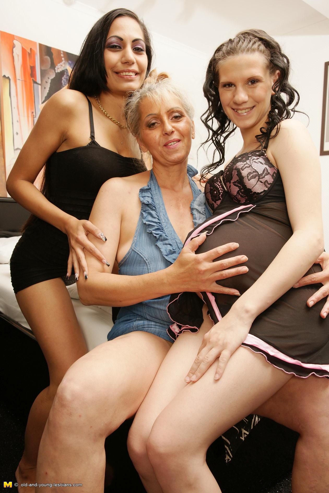 Young pregnant lesbian grannies
