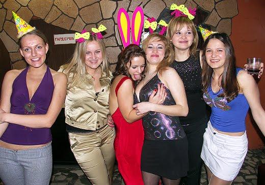 Russian teen girl party