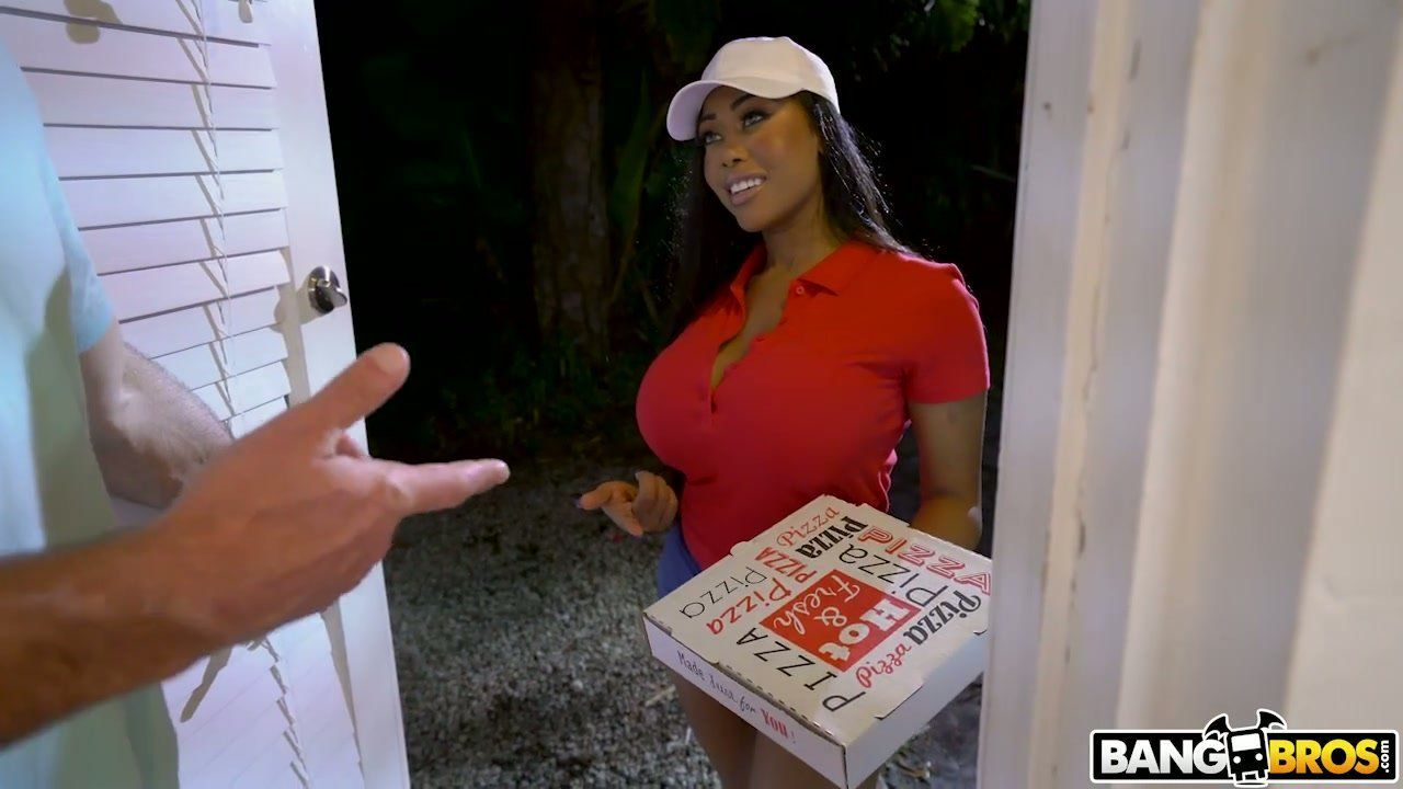 Big tit delivery girl